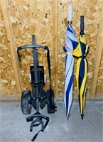 Golf Cart and 2 Umbrellas