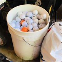 5 Gallon bucket 90% full of Golf Balls