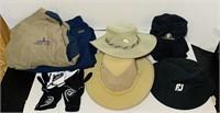 4 Golf Hats, 3 Gloves, Men's Gortex Pants