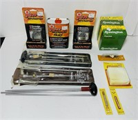 3 Rifle Cleaning Rods, Cleaning items, Shells