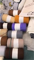 Collection of Needlepoint Thread, patterns, beads