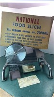 Vintage National Food Slicer All Chrome Model