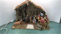 """Vintage Sears Nativity Set Made in Italy 17"""" Wide"""
