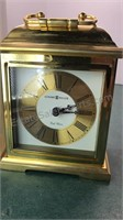 Howard Miller Polished Brass Carriage Clock in