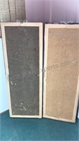 """2 Vintage Asian Inspired Wall Panels 24"""""""