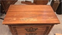 Vintage Wooden 2 Drawer Nightstand / Side Table