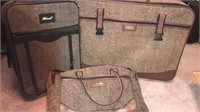 3 Pcs Tweed Soft Side Luggage