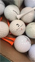 Collection of Loose Golf Balls, tees and