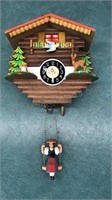 "Bavarian Style Battery Powered Coocoo Clock 10"""