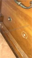 """Vintage Wooden Basset Furniture Long Dresser 60"""""""