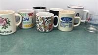 8 Glass and Ceramic Coffee Mugs