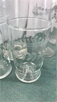 Vintage Etched and Silver Rimmed Glassware