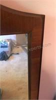 "Vintage Wood Frame Dresser / Wall Mirror 48x22"""