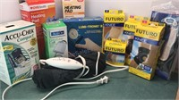 Collection of Heating Pads, Braces Supports,