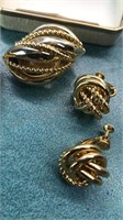 Vintage Napier Pin and Earring Set