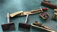 Collection of Vintage Cufflinks and Tie Pins