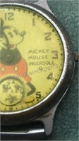 Antique Mickey Mouse Ingersoll Watch and Part of