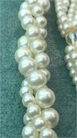 """3 Strand Beaded Necklace Made in Japan Approx 23"""""""
