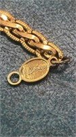 4 Vintage Chains One Marked Napier