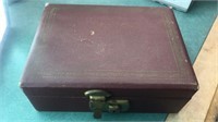 Vintage Jewelry Box with Contents 1940's Pennies,