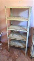 Vintage 4ft Tall Metal Rack with 5 Shelves 20x13""