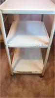 3 Tiered Metal Rolling Kitchen Cart 29x20x15""