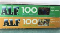 2 Vintage 100pc Alf Jigsaw Puzzles