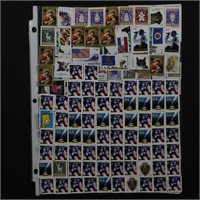 US Stamps 44c & Forever stuck on plastic FV $220+