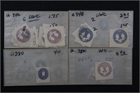US Stamps Cut Squares 1850s-1970s in glassines
