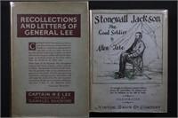US Civil War 2 Books - Lee & Jackson biographies