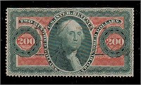 US Stamps #R102c Used perf trimmed CV $850