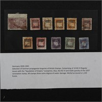 Germany Stamps 1939-1945 Propaganda Forgeries of B