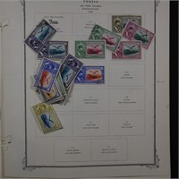 Iran Stamps Large Persia Collection on Pages