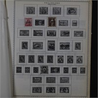Philippines Stamp Collection on Pages