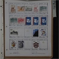 Peru Stamp Collection on Pages
