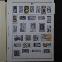 Brazil Stamp Collection on Pages