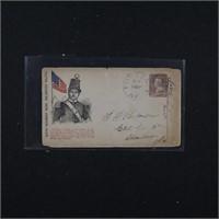 US Stamps Civil War Patriotic Cover 6th Regiment M
