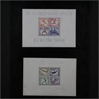 Germany Stamps 1930s Souvenir Sheets x9 CV $363.50