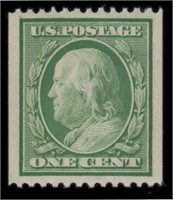US Stamps #348 Mint NH VF-XF 85 PSAG Graded Cert
