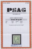 US Stamps #658 Mint NH XF 90 PSAG Graded Cert
