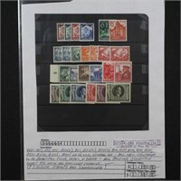 Germany Stamps 25 1930s-40s Mint LH CV $75+
