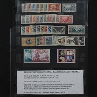 French Polynesia Stamps 1916-1981 Mint NH CV $125+