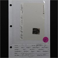 Great Britain Stamp #94 Used CV $150