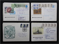WW Stamps 80 Covers from Russia & Moldova