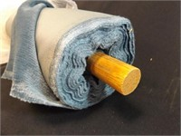 Upholstery Fabric, 10 Yards, blue plush, on roll