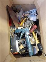 Calking Gun, Lights, Chain, Drill Attachment & Mis