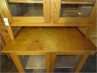 Glass Front Stepback Cupboard