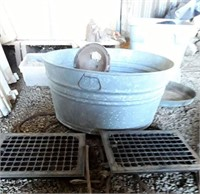 Galvanized Tub, Canning Jars, & Miscellaneous