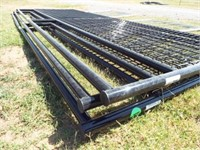 3 Behlen 12' Wire filled 1 5/8 black Gates