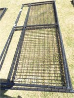 """2 Behlen 10' Wire filled 1 5/8"""" black Gates"""